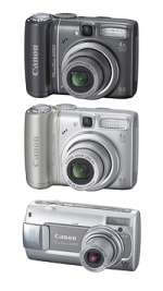Three new A series PowerShot models