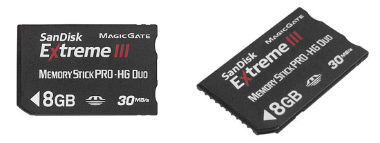 SanDisk Extreme III Memory Stick PRO HG card